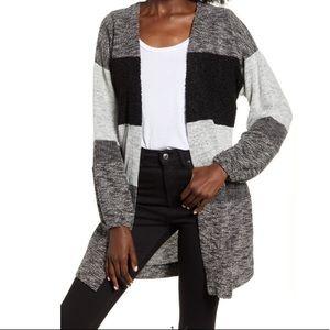 Socialite Textured Stripe Longline Cardigan
